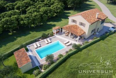 Top quality villa with panoramic view near Buzet - under construction